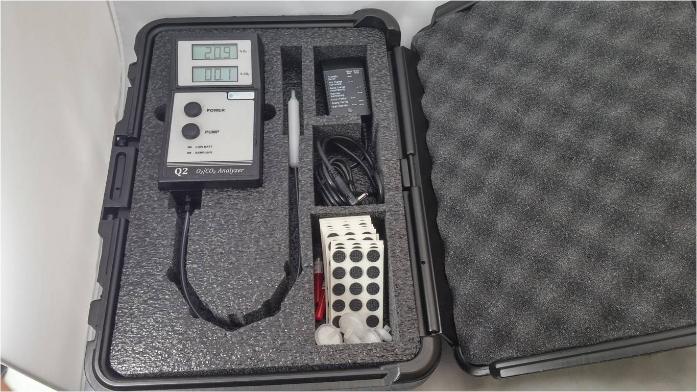 Q2 portable O2 CO2 analyzer